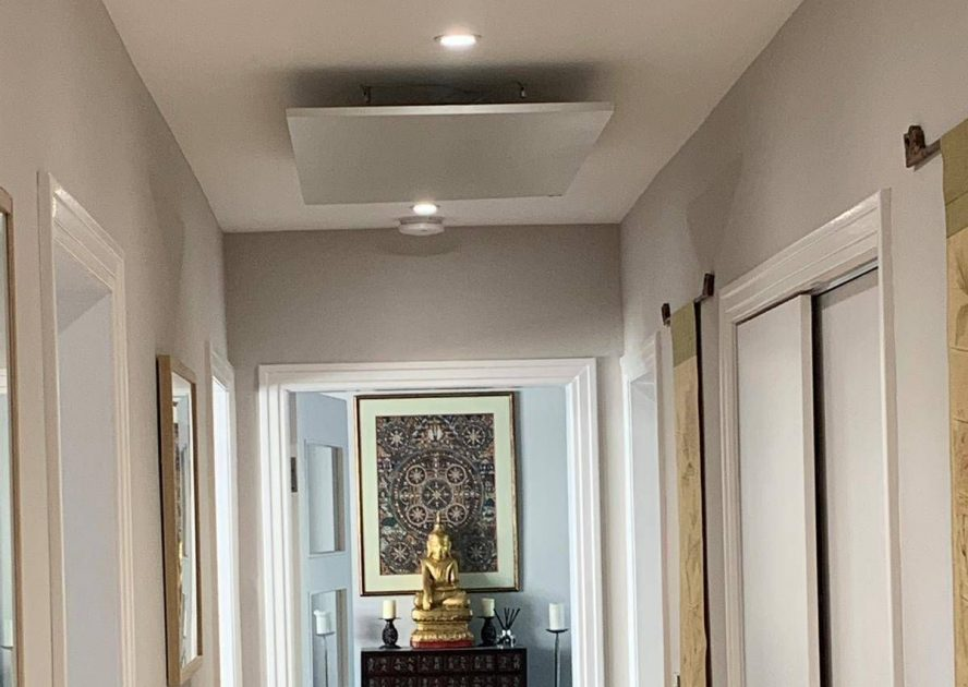Ceiling Mounted Panels Throughout Contemporary Home