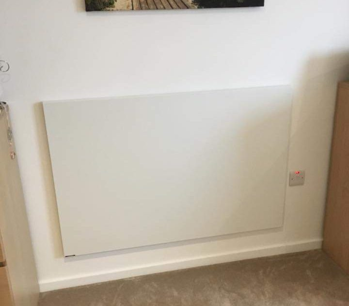 Ease of installation for infrared heating panels