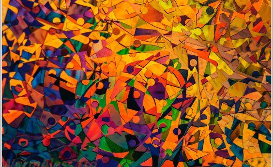960 Watts Abstract Orange Panel