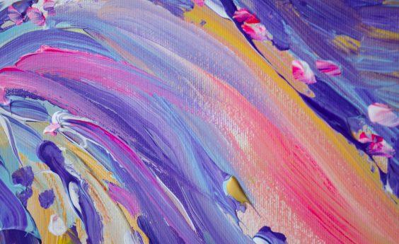 960 Watts Pink Abstract Panel