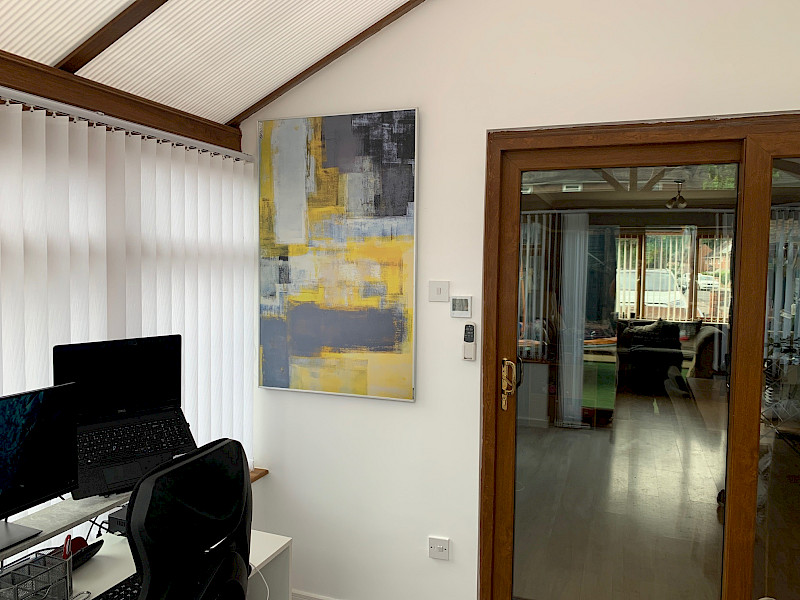 Yellow and Grey Conservatory