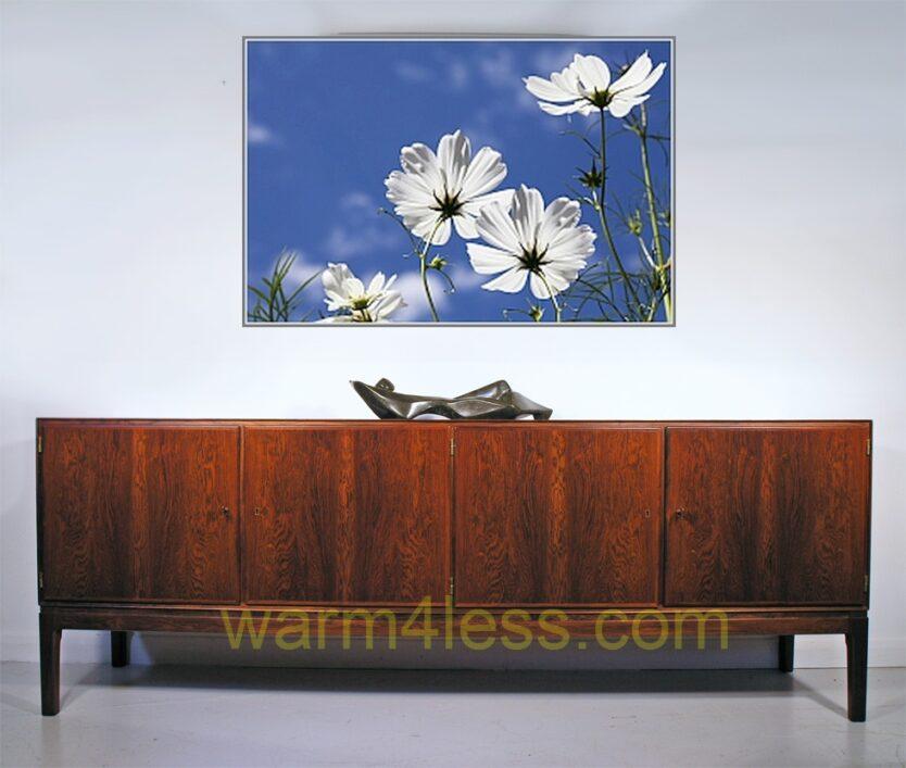 600 Watts White Flowers Panel